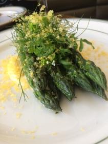 Asparagus, comte custard and cured yolk