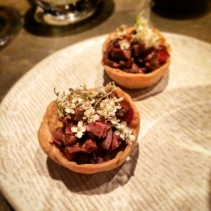 Duck heart tarts