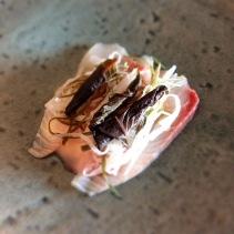 Kingfish, cultured cream, yuzu kosho