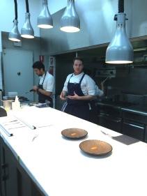 Head Chef Wayne Brown showing us his kitchen
