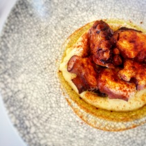 Galician style octopus on smoked mash
