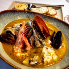 Bouillabaisse inspired Provencale fish soup