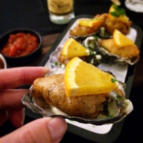 Moroccan fried oysters with orange