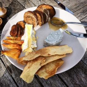 Robe dairy cheeses with crisp bread, dried fruit, Manuka honey
