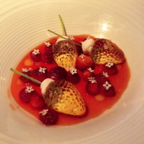 Strawberries and elderflowers