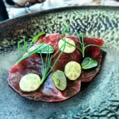 Lamb, tenella, oyster and leaf