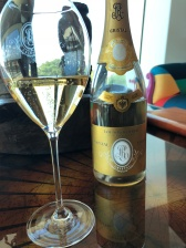 The Louis Roederer Cristal on arrival