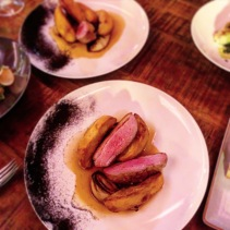 Duck breast, braised fennel, duck fat potatoes, burned onion, juniper