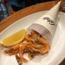 Crispy fried school prawns