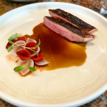Duck, smoke onion, quandong