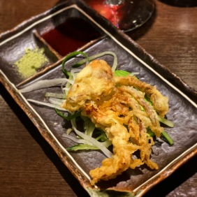 Ume, yuzu, honey soft shell crab