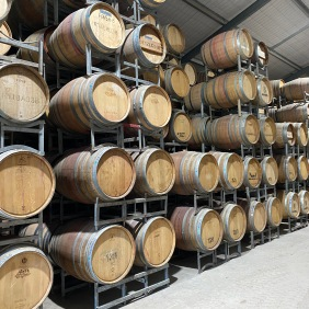 I got a peek in the barrel room