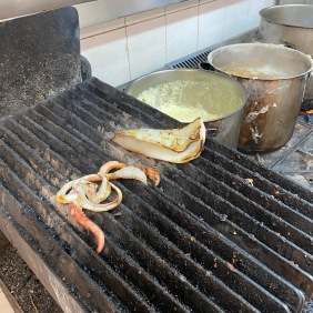 Squid on the grill