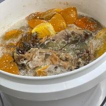 Citrus vinegar in the making