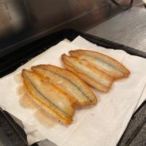 Beautiful pan-fried butterflied garfish