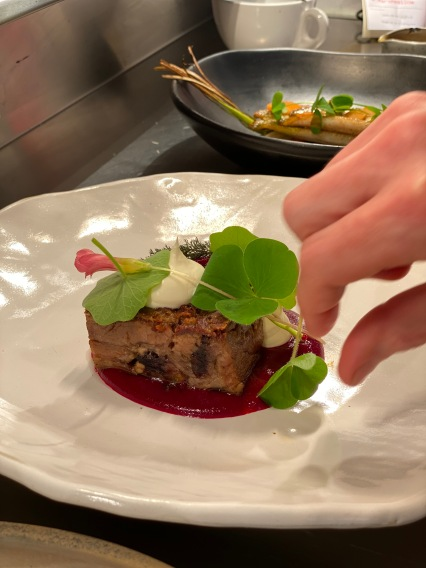 Plating up Lamb in the Weeds