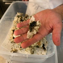 Jack's welcome snack of nori, rice paper crisp and house-made furikake