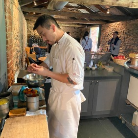 David preparing the cellar door snacks