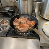 Lamb in the pan
